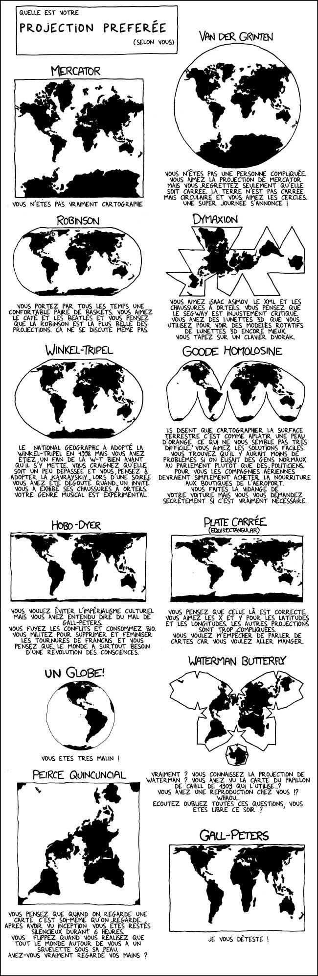 Comment ? Vous pensez que si je n'aime pas la carte de Peters c'est parce que je ne suis pas prêt à remettre en cause mes certitudes culturelles ? Êtes-vous sûr que ce n'est pas vous qui vous … ::il met ses lunettes de soleil:: … projetez ?